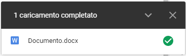 Conferma upload GoogleDrive