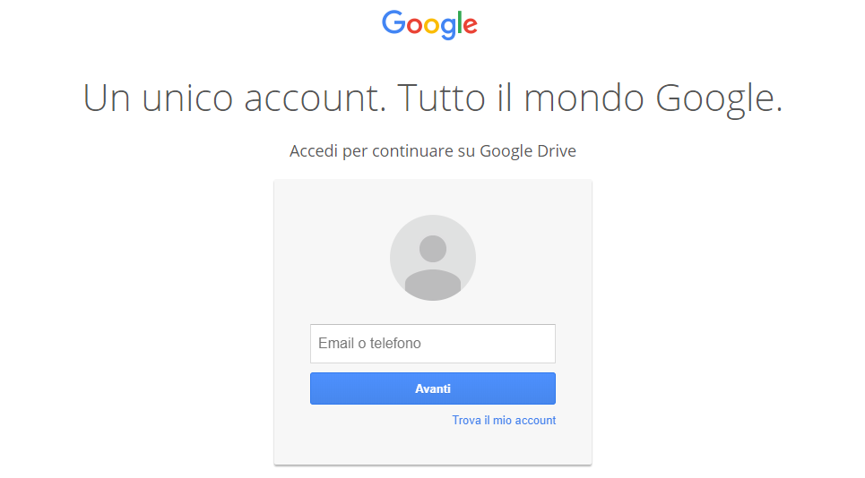 Login GoogleDrive